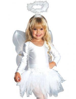 Divine White Angel Girls Dress Up Costume