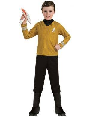 Star Trek Deluxe Boy's Gold Shirt Captain Kirk Costume