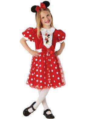 Girl's Disney Minnie Mouse Costume Front View
