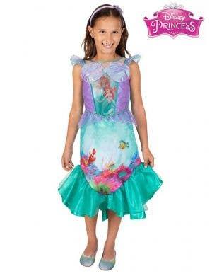 Premium Ariel Little Mermaid Costume for Girls - Front Image