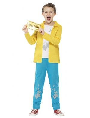 Boys Charlie Bucket Fancy Dress Costume Front View