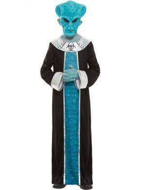 Blue Alien Lord Boys Costume - Main Image