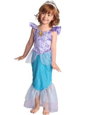 Purple and Blue Toddler Girls Mermaid Costume