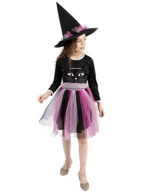 Kitty Witch Girls Pink Halloween Costume