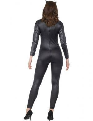 Daring Black Wet Look Catsuit Women's Dress Up Costume