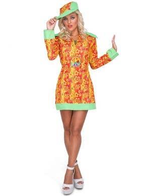 Groovy Women's 1960's Orange Hippie Costume