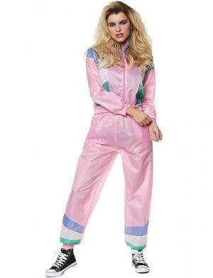Light Pink Shell Suit Costume for Women - Front Image