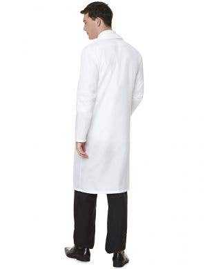 Clinical White Mid Length Men's Doctor's Coat Costume