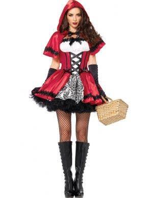 Women's Dark Red Riding Hood Sexy Costume Main View