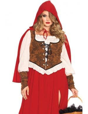 Woodland Red Riding Hood Women's Plus Size Costume