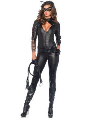 Sexy Catwomen Deluxe Women's Fancy Dress Costume Main View