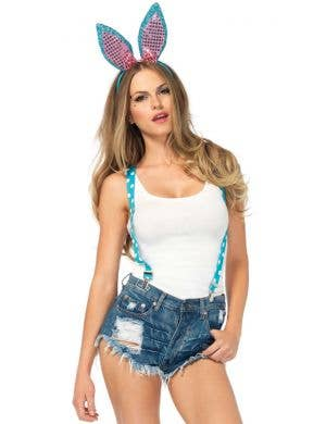 Sparkle Bunny Women's Costume Accessory Kit with Suspenders