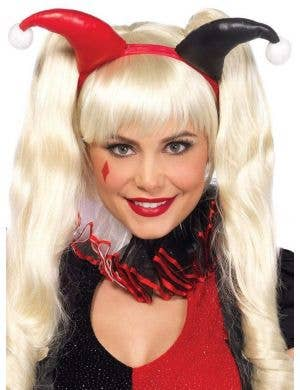 Red and Black Harley Quinn Headband Costume Accessory