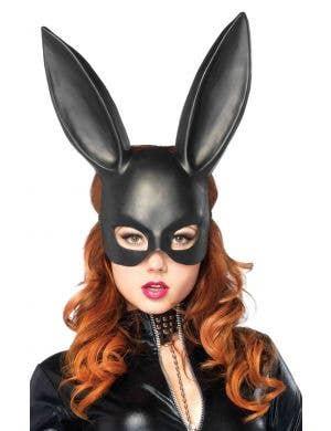 Black Bunny Adults Costume Mask by Leg Avenue Main Image