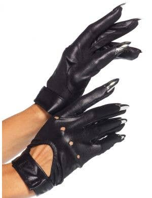 Cat Claw Women's Black Costume Gloves