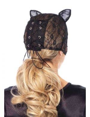 Lace Black Cat Costume Mask with Ears