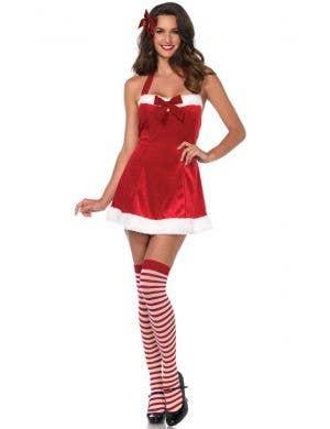 Women's Christmas Santas Little Helper Dress Up Costume View 1