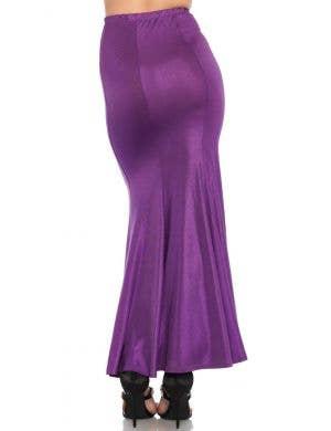Shimmer Purple Spandex Women's Plus Size Mermaid Skirt