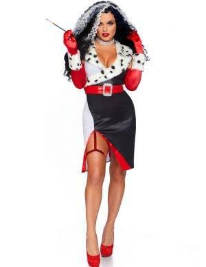 Devilish Diva Women's Sexy Cruella de Vil Costume