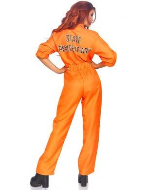 Orange Prisoner Jumpsuit Women's Fancy Dress Costume