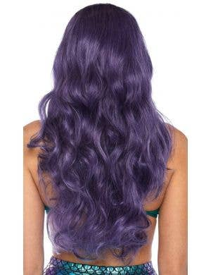 Mermaid Wave Long Purple Women's Costume Wig