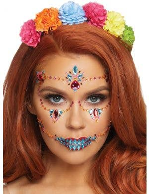 Day of the Dead Sugar Skull Face Jewels
