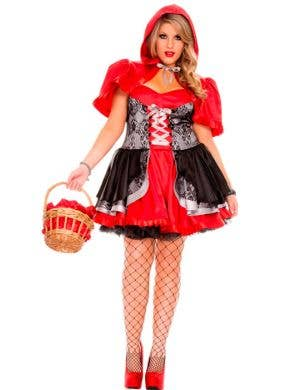 Women's Plus Size Little Red Riding Hood Costume Front View
