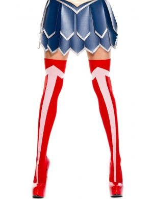 Wonder Woman Red Thigh High Stockings