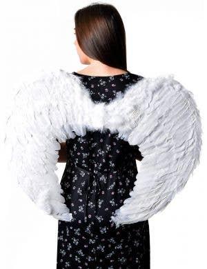 Big White Feather Dark Angel Wings