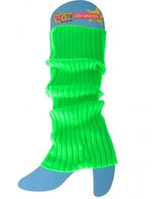 Neon Green 80s Leg Warmers