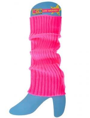 Neon Pink 80s Leg Warmers