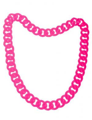 80's Chunky Neon Pink Necklace Costume Accessory