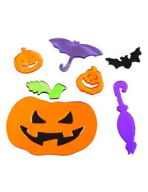 Colourful Assorted Gel Window Clings Halloween Decoration