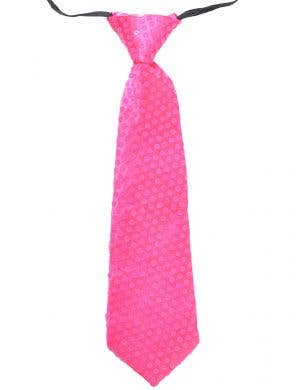 Bright Pink Tie With Sequins