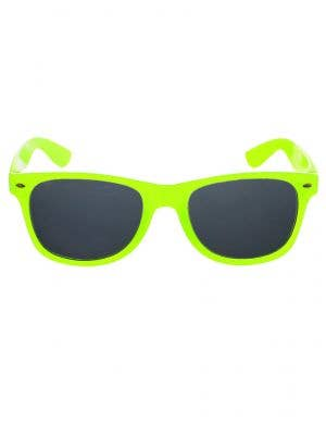 Neon Yellow 1980s Costume Glasses