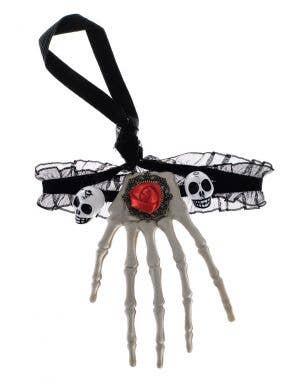 Skeleton Hand Choker Necklace