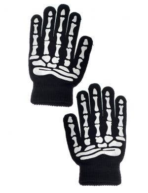 Day of the Dead Women's Skeleton Gloves Costume Accessory