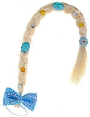 Girls Queen Elsa Blonde Braid Costume Accessory