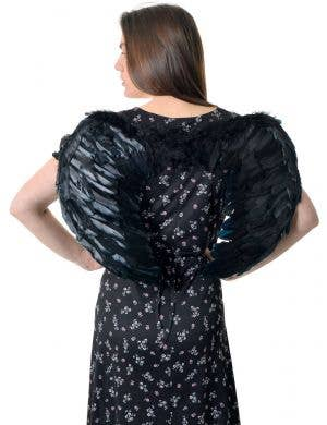 Mid Size Black Feather Dark Angel Wings