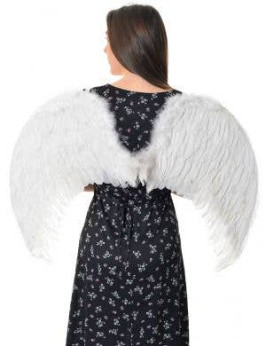 Deluxe Large White Feather Angel Costume Wings