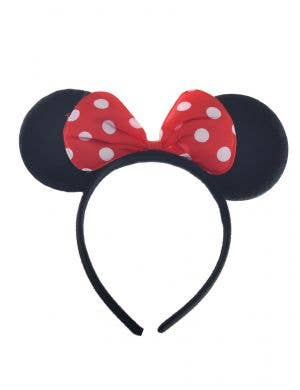 Red and White Minnie Mouse Headband
