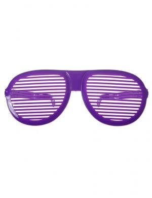 Oversized Novelty Purple Shutter Shades Costume Accessory