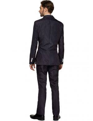Suitmeister Black and White Pinstriped Men's Gangster Suit