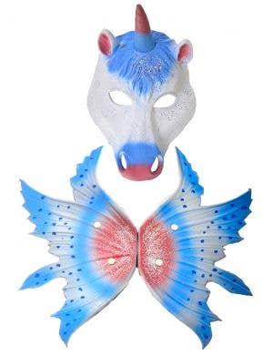 Deluxe Unicorn Mask and Wings Accessory Set