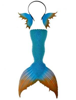Mini Mermaid Tail and Fins in Blue and Orange Accessory Set