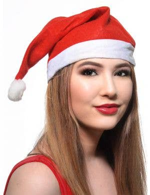 Budget Red and White Christmas Santa Hat
