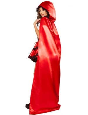Sexy Women's Little Red Rider Satin Costume