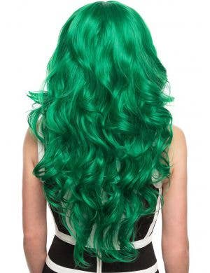Emerald Jade Green Long Curly Heat Resistant Women's Fashion Wig
