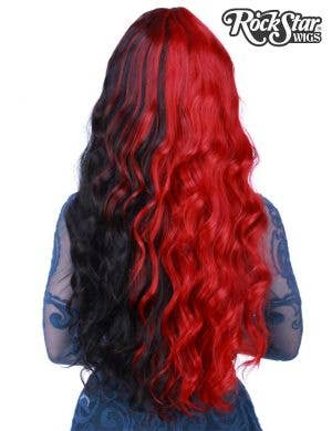 Classic Wavy Women's Red and Black Deluxe Fashion Wig