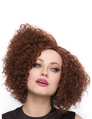Disco Diva Chocolate Brown Lace Front Women's Costume Wig